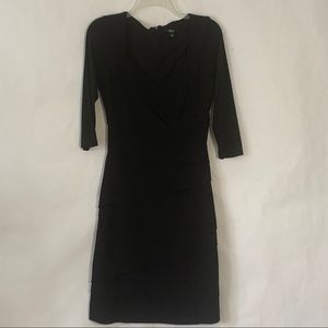 MSK fitted 3/4 sleeve LBD dress size small